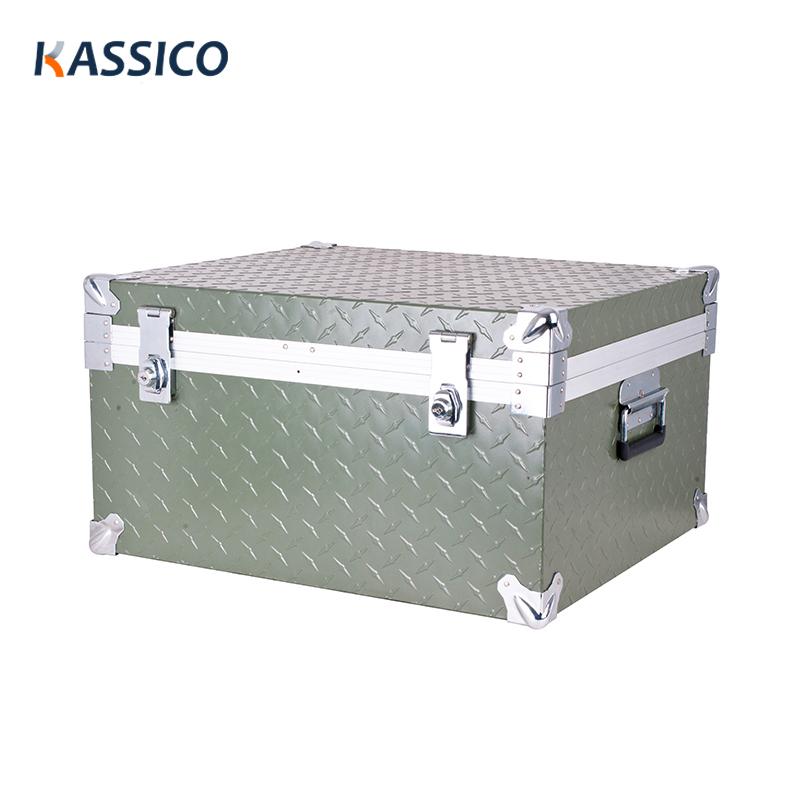 Caisse en aluminium résistante pour la caisse de transport en métal d'équipement