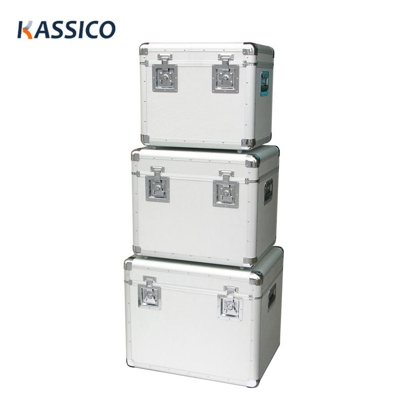 Aluminiumväska med stor kapacitet för bärande och förvaring av verktygsutrustning