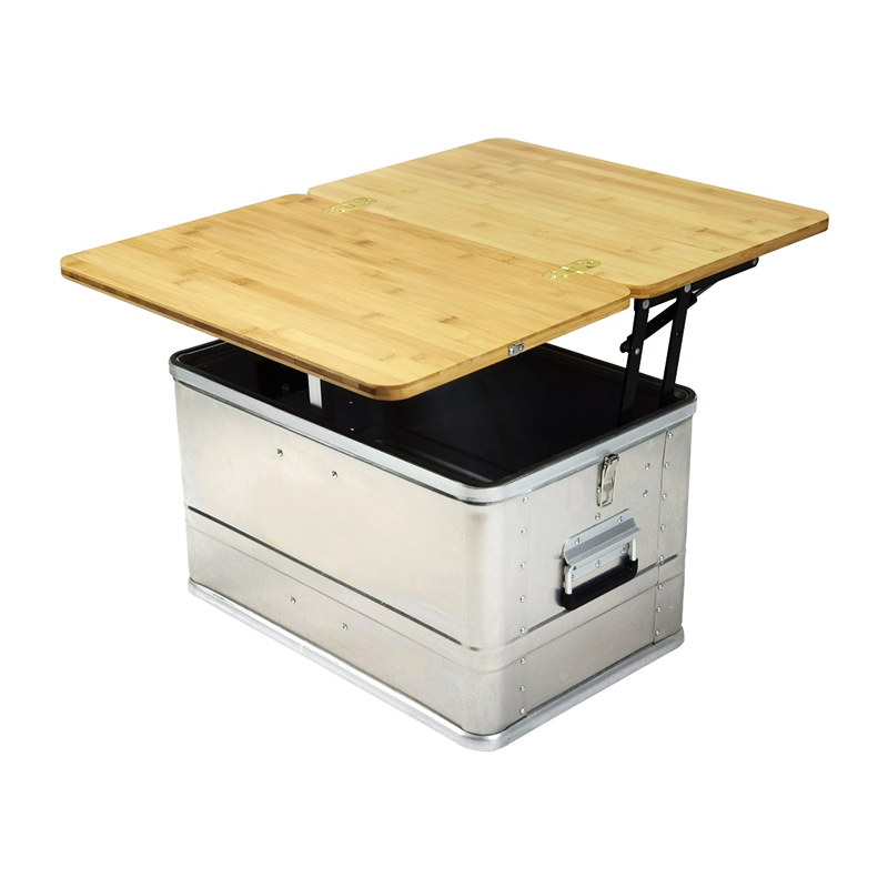 Outdoor Mobile Camping Kitchen Box Folding Table