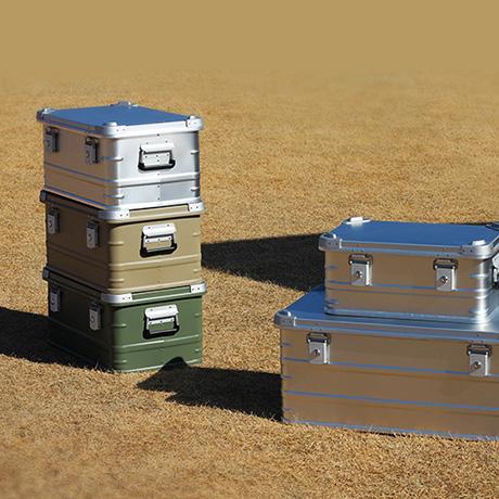 Recipientes de alumínio para caixa de armazenamento de equipamentos de acampamento