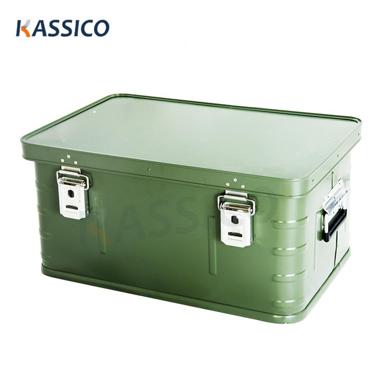 Oppbevaring og transportbokser av aluminiums militær