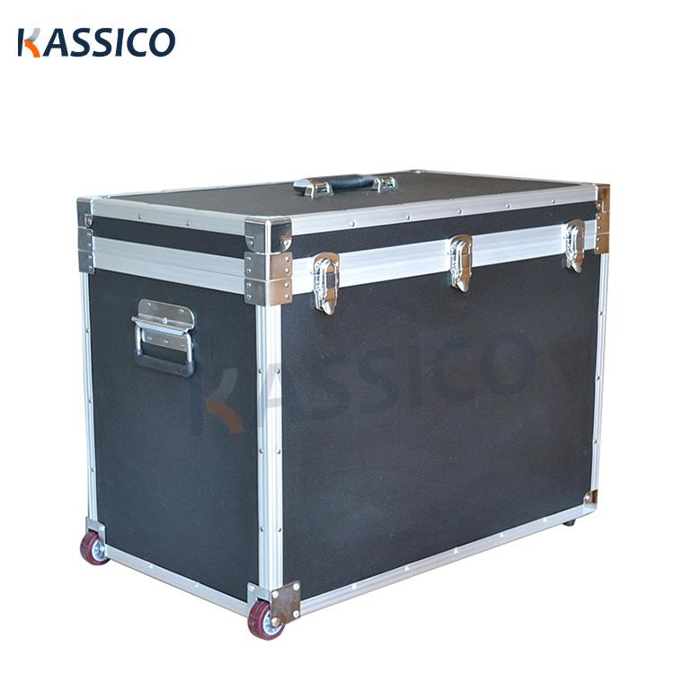 Aluminum Photographic Audio Equipment Flight Case with Wheels