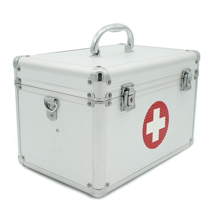 Boîte de rangement médicale en aluminium, mallette de transport de médicaments