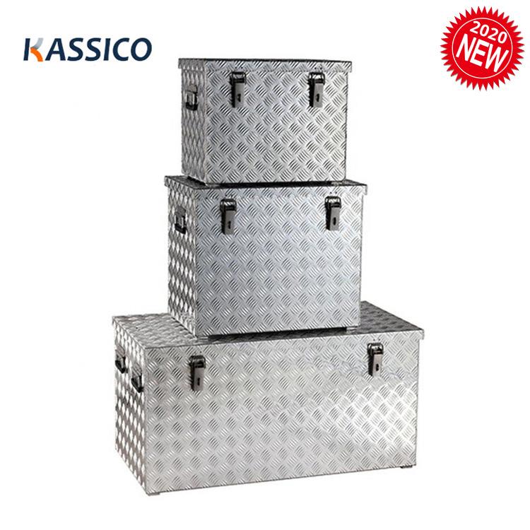 Boîtes de rangement en aluminium, boîtes à outils en aluminium