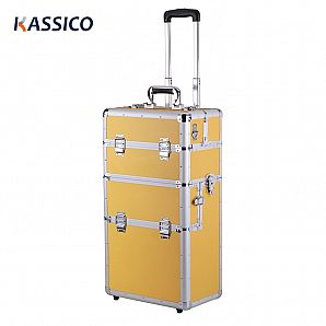 Custom Aluminum Trolley Cosmetic Cases Packaging
