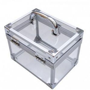 Aluminum Acrylic Makeup Case Box