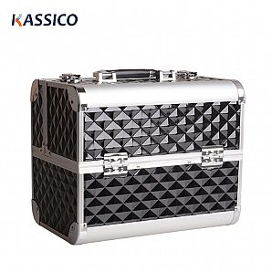 Aluminum PVC Cosmetics Makeup Box For Beauty Makeup