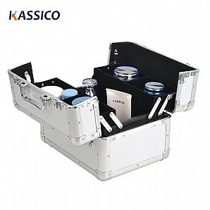 Aluminum Cosmetic Case with Trays