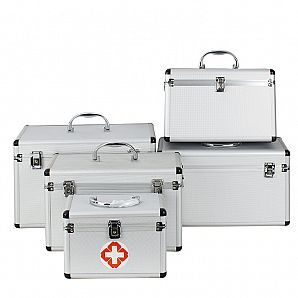 Aluminum Emergency Case, Family Medical First Aid Kit Case