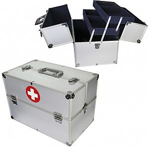 Aluminum Medical Emergency Carrying First Aid Case
