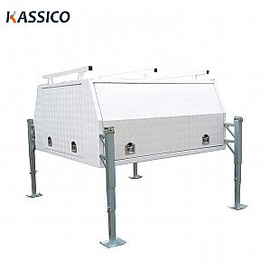 Aluminum UTE Canopy Toolbox With JackOff Legs