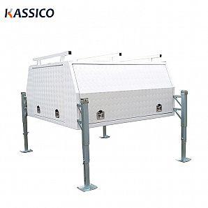 Aluminum UTE Canopy Toolbox With JackOff Legs