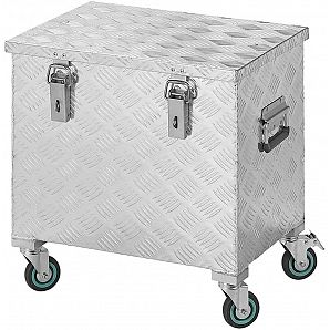 2mm Aluminum Trolley Tool Box with Wheels