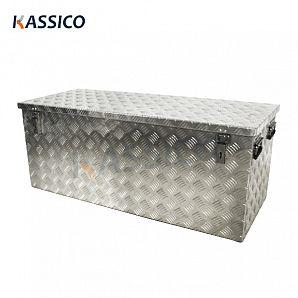 312L Scatola per attrezzi grande in alluminio con scacchiera in alluminio