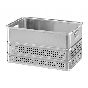 Panier de rangement en aluminium, récipient en aluminium pour fruits de mer et médicaments